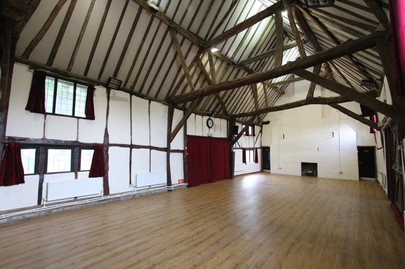 inside chalton village hall