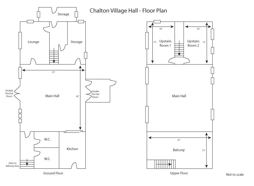 Plan of Chalton Village hall